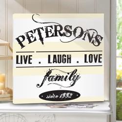 Live.Laugh.Love Canvas Print