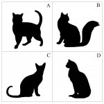 Cat Silhouette Throw Pillow - Hashtag