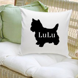 Modern Dog Silhouette Throw Pillow
