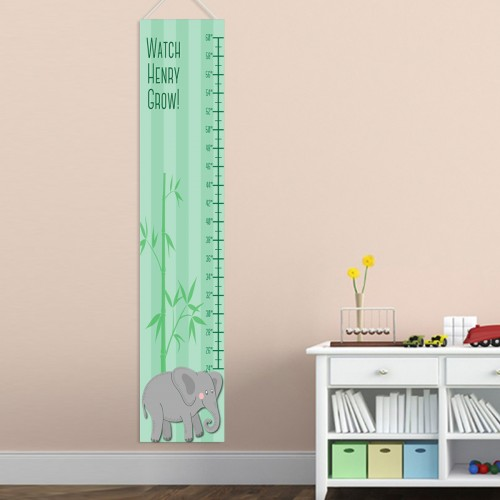 Personalized Boy Elephant Growth Chart