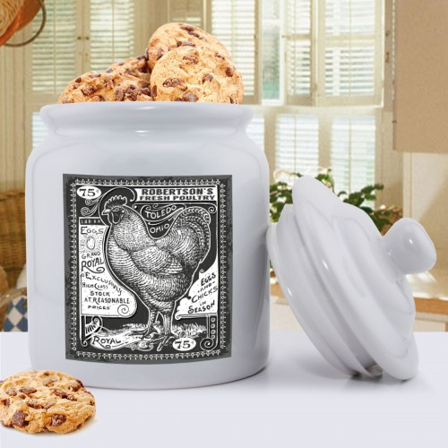 Personalized Ceramic Rooster Cookie Jar