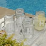 Personalized Classic Jar Glass Set