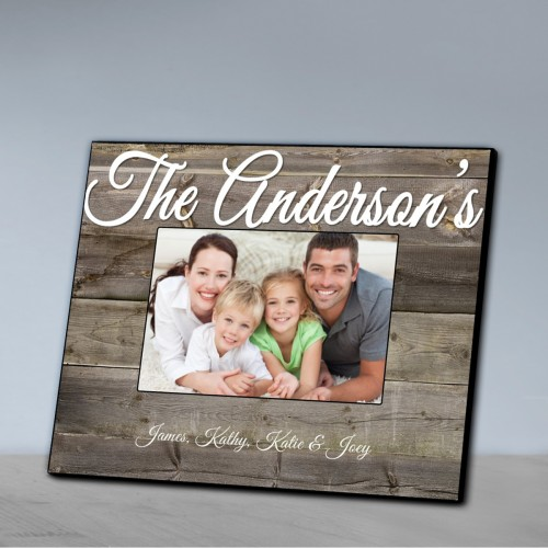 Personalized Family Picture Frame-Plank