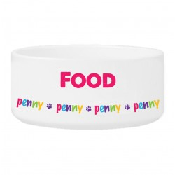 Personalized Girl Pet Bowl