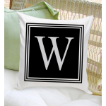 Personalized Initial Throw Pillow