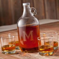 Personalized Whiskey Growler Set