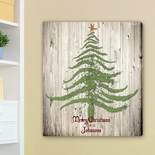Vintage Christmas Tree Canvas
