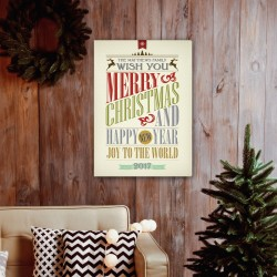 Vintage Christmas Words Canvas