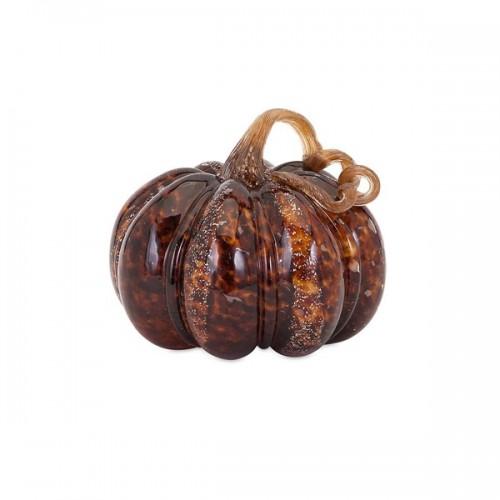 Carmel Wide Glass Pumpkin