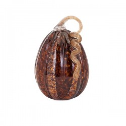 Carmel Medium Glass Pumpkin