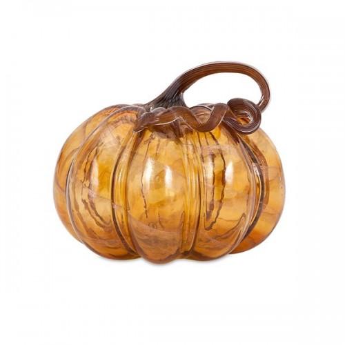 Gilded Medium Glass Pumpkin