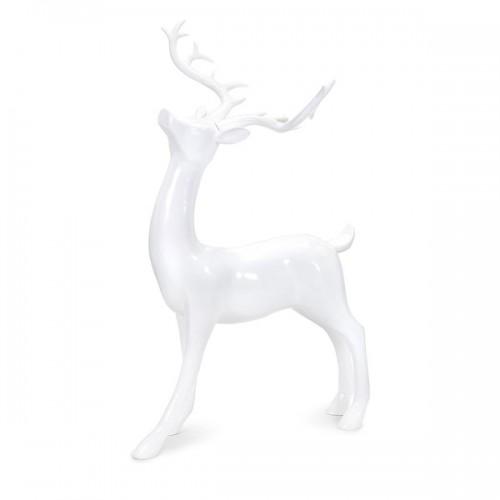 Playful Reindeer- White (antlers KD)-Standing