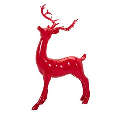 Playful Reindeer- Red (antlers KD)-Standing