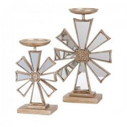 Snowflake Candlesticks- Set of 2