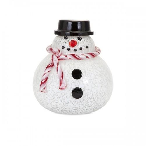 Sammy Large Glass Snowman