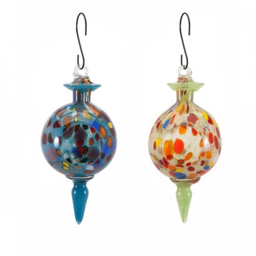 Aviary Glass Bird Feeders - Ast 2