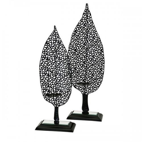 Aaron Leaf Candleholders - Set of 2